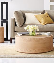 Round Oak tables! Clean and sturdy!