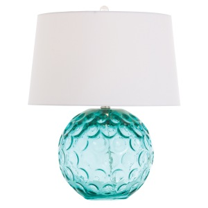 Aqua Glass Lamp Arteriors